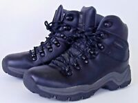 womens campri black leather walking boots size uk3 shoes hiking boots