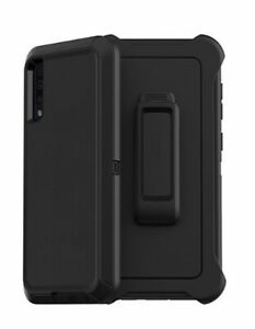 For Samsung Galaxy A50 Heavy Duty Defender Shockproof Case Cover+Belt Clip Black