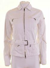 NAPAPIJRI Womens Overjacket Size 10 Small White Cotton  JD05