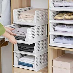 Wardrobe Storage Box , Drawer Storage Racks Clothes Organizer Basket Shelf