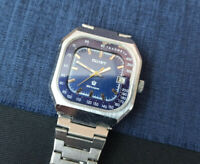 Rare USSR WATCH POLJOT Tachometer Soviet Collectible Vintage Blue Dial Serviced