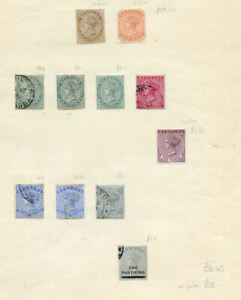 Bermuda collection Queen Victoria to 1936 mint or used on 5 pages (2020/0128#03)