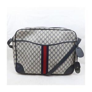 Gucci Shoulder Bag cross body Navy Blue PVC 2202345