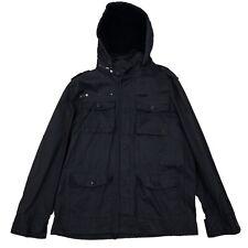 Ecko Unltd Mens Coat Jacket Parka Black Size XL