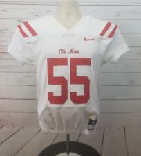 Nike Mississippi Ole Miss Football Game Jersey Sewn Boy's M White Red