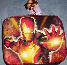Marvel IRONMAN 3 NeW INSULATED Lunchbox Boy's Lunch Box Tote Bag Avengers NWT