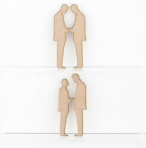 Wooden MDF Groom and Groom Love Couple Sign Plaque Wedding Decoration 3mm Thick