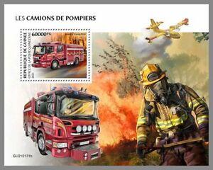 GUINEA REP. 2021 ** Flugzeug Avion Airplane Feuerwehr #17-131bB
