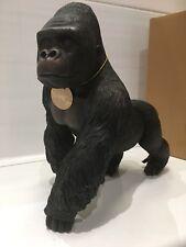 Large Silver Back Gorilla Ape Ornament Figurine Figure Gift Present