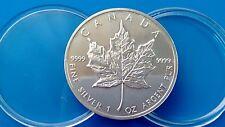 MONEDA DE PLATA CANADA 5 DOLARES  AÑO 1989 0.999/1000 - 1 ONZA