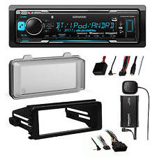 Harley FLHX Install DIN Kit /Thumb Module , Bluetooth Car Radio, Cover, XM Tuner