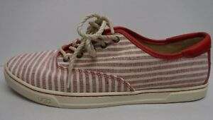 Ugg Australia Size 11 Red Stripe Sneakers New Womens Shoes