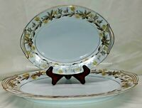 "Vintage Lorraine by NORITAKE 5320 Serving Platters 11"" and 16"""