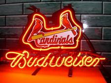"New St. Louis Cardinals Logo Neon Light Sign 14""x10"" Lamp Display Beer Glass Bar"
