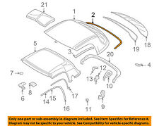 BMW OEM 96-02 Z3 Removable Top-Hardtop Gasket 54218397667