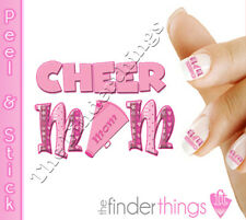 Cheerleader Cheer Mom Support Nail Decal Stickers CHM101