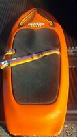 Vintage Retro 90's Hydroslide Pro Knee Board Orange