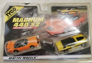 Tyco/AFX Mattel Wheels Magnum 440-X2 34022 Superbird & Charger sealed old stock