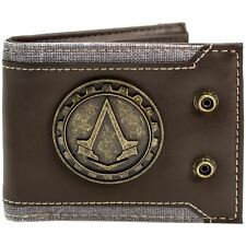 Official Assassins Creed Syndicate Jacob Logo Brown Id & Card Wallet *SECOND*