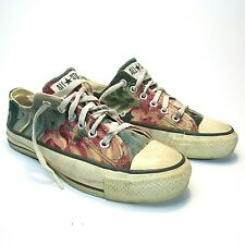 New listing Rare Vintage 90's Hemp Converse Made In Usa Floral Print Women's 8 / 8.5