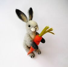 Needle Felted Easter Rabbit, wool bunny, Felted Hare, Animal, ornament,