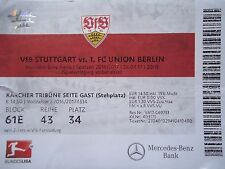 TICKET 2. BL 2016/17 VfB Stuttgart - Union Berlin