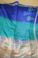 Saree--Turquoise blue Bhagal puri silk-- for wedding-Puja-Eid-party wear