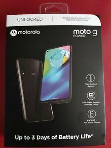 "Brand New Motorola Moto G Power 64GB 6.4"" Black Factory GSM Unlocked XT2041-4"