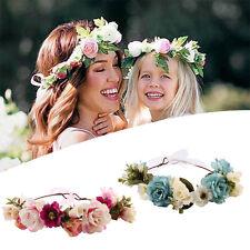 Mom & Me Rose Flower Crown Headband Wreath Party Garland Hairband Headwear Hot