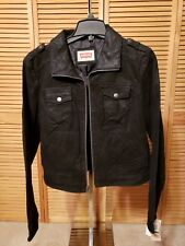 c39431f882f Levi s Motorcycle Black Leather Sued Jacket Large Macy s Exclusiver