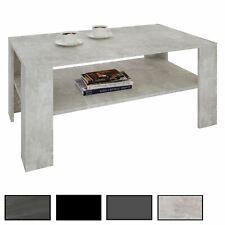 Couchtisch Wohnzimmer Beistell Sofa 100 x 60 cm in 4 Farben mit Ablage