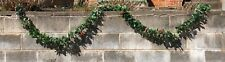 Vintage Christmas Plastic Wax holly Leaves Garland 200� 1970s 1980s Over 16 Feet
