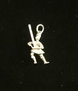 Solid Silver Vintage CHARM  : SCOTTISH MAN TOSSING THE CABER . Excellent (ref21)