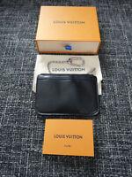 Louis Vuitton Schlüsseletui Epi Leder Poche Key Cles schwarz & silber M66602