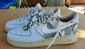Nike Air Force 1 Low Winter Camp Pure Platinum White Grey Camo 823511-009 Size 9