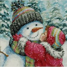Dimensions Gold Collection Petite Counted Cross Stitch Kit A Kiss For Snowman