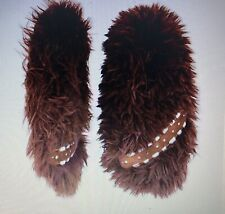 Star Wars Chewbacca Faux Fur Fuzzy Slipper Socks - Brown Men's Size L/XL