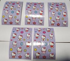 Sandylion Vintage HELLO KITTY Stickers lot of 5 SHEETS 4 X 6 free shipping