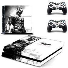 Whit Bat Arkham Knight Decal Cover Skin Sticker for PS4 Console 2 Controller USA