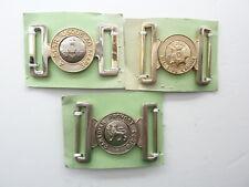 Three Assorted Canadian Army Brass Belt Buckles
