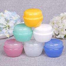 36 Empty Jar Pot Cream Cosmetic Container w/ Screw Lid Multi Colors 0.18oz(5 ml)