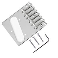 Guitar 6 Saddle Bridge For Fender Tele Telecaster Parts Replacement Chrome