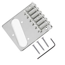 Guitar Square 6 Saddle Bridge for Fender Telecaster Tele Guitar Parts Chrome