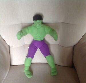 """KELLYTOY Universal Studios Large Incredible Hulk Soft Toy 15"""" Tall Ex Condition"""