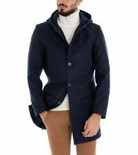 Cappotti e giacche da uomo con cappuccio Blu senza marca