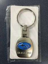 Subaru Logo CHROME KeyTag Keyring Key Chain Outback Foreseter Wrx Sti Impreza