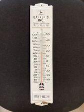 Original John Deere Tractors Barkers Inc Dealer Implement Farm Feed Thermometer