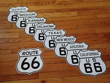 classic ROUTE 66 SIGN w complete 8 state set - 18 gauge steel porcelain signs
