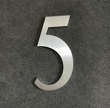 Zahl 5 Metall Edelstahl Zahlen Hausnummern Schilderbeschriftung Schriftzüge 4cm