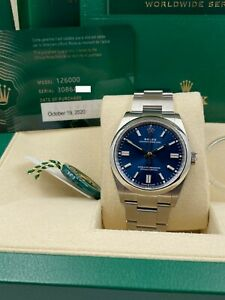 BRAND NEW Rolex 126000 Oyster Perpetual Blue Dial Stainless Steel Box Paper 2020